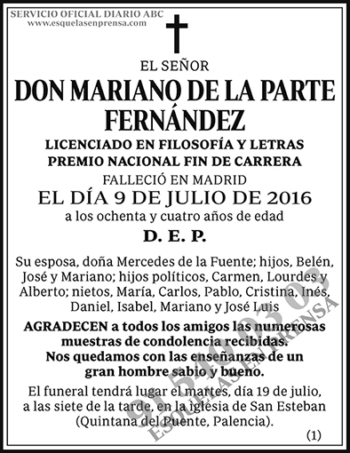 Mariano de la Parte Fernández